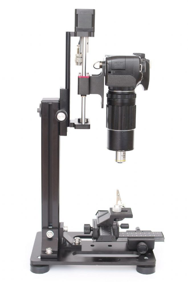 UltraMacro/WeMacro Auto-Rail Complete - incl. macrostand, power pack connection & specimen holder